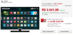 "Smart TV LED 58"" Samsung UN58H5203AGXZD Full HD com Conversor Digital 2 HDMI 1 USB Wi-Fi 120Hz  Função Futebol << R$ 304199 >>"
