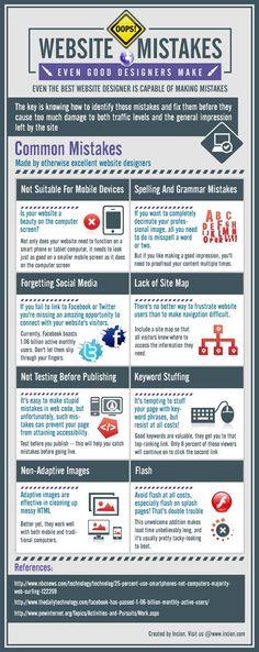Avoid #Web Design Mistakes #infografía