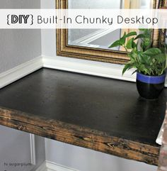 {DIY} chunky, distressed built-in desk