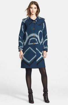 Burberry+Prorsum+Geometric+Flower+Cashmere+Coat+available+at+#Nordstrom