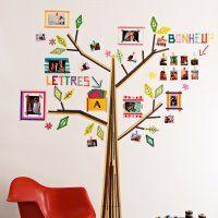 Pour décorer le mur de votre chambre ou de celle des enfants, quelle bonne idée cet arbre généalogique fait au masking tape et personnalisable à souhait !