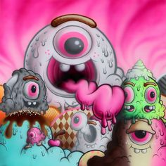 24 Best Buff Monster Images On Pinterest Street Art Monsters And