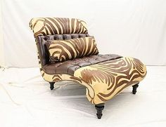 Old Hickory Tannery Chaise Lounge Body Fabric: T-Rex Tupelo, Color: Baroque French White, Nailhead Detail: Old Hickory Tannery, French Decor, T Rex, Wood Species, Interiores Design, Luxury Furniture, Furniture Design, Decoration, Home Furnishings