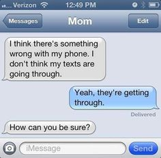 Put down the phone parents!! ... .. ...29 Funny Text Messages from Mom and Dad