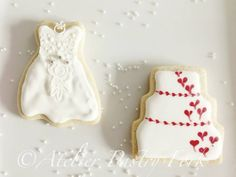 Wedding Cookies, Galletas Boda, Hochzeitskekse by Atelier Pastry Fork