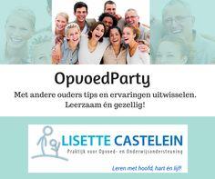 Heeft u interesse? Neem gerust contact op! http://www.lisettecastelein.nl/opvoedparty/
