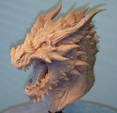 Concepto busto escultura de Dragon por Creaturae en Etsy