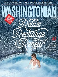 Washingtonian December 2014. Creative director Michael Goesele (via Cover Junkie).