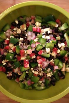 This black bean, corn, and radish salad can be served as a side dish or as a dip with tortilla chips. Get the recipe: black bean, corn, and radish salad Bean Recipes, Lunch Recipes, Salad Recipes, Healthy Recipes, Vegetarian Recipes, Summer Recipes, Vegetarian Lunch, Going Vegetarian, Vegetarian Options
