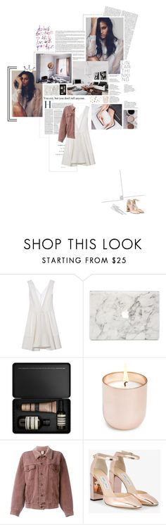 """""""don't forget to fall in love with yourself {LAU}"""" by ghost-of-icarus ❤ liked on Polyvore featuring Marni, Agent 18, Aesop, Jonathan Adler, Moschino, Jimmy Choo and Umbra"""