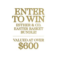 Enter to win an epic Easter Basket bundle!