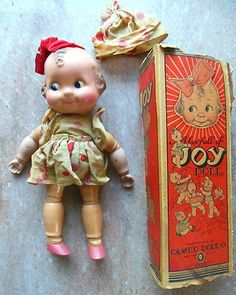 30s Cameo Joy Kewpie Family Composition Googly Character Doll N Orig Dress Box | eBay