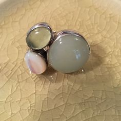 Silpada .925 Sterling Silver Mother Of Pearl Ring