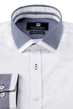 3806 WHITE SHIRT WITH DETAILED COLLAR