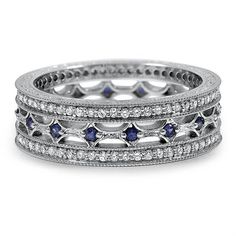 REternity Style Diamond and Sapphire Ring from Brilliant Earth–love this band with the sapphires *Trisha