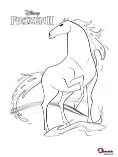 Free, Frozen 2 Nokk the magic horse coloring page. printable coloring book pages, connect the dot pages and color by numbers pages for kids. Frozen Coloring Pages, Disney Princess Coloring Pages, Disney Princess Colors, Horse Coloring Pages, Pokemon Coloring Pages, Coloring Sheets For Kids, Disney Colors, Cute Coloring Pages, Printable Coloring Pages