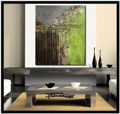 Amazon.com: Modern Abstract Canvas Painting - Limited Edition Giclee - OF SERIOUS NATURE - 30 x 36 x 1.5 XL Ready to Hang. Direct from studio ELOISE WORLD.: Home & Kitchen