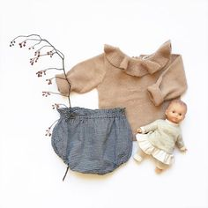 Bloomer édition 4 Atelier Greta Oto (made in France) + pull Waddler vieux rose Atelier Greta Oto, baby clothing, babylook, baby outfit, kids fashion, Made in France