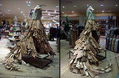 Anthropologie Display: wooden skirt