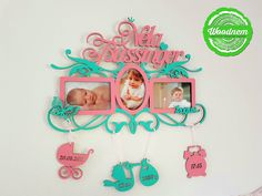Baby birthday photo frames - the best gift idea. Product solutions are custom-designed to meet your specific requirements. You can choose any colour, date, words, and names you want. We make fabulous frames for babies! http://woodnem.ru/   Фоторамка ручной работы из дерева от мастерской Woodnem http://woodnem.ru/ #baby #photo #frame #ideas #woodnem #lasercut