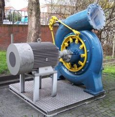 Francis Turbine complete - Francis turbine - Wikipedia, the free encyclopedia Diy Generator, Homemade Generator, Power Generator, Water Turbine, Hydroelectric Power, Water Powers, Mechanical Engineering, Industrial