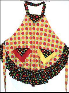 Two Polka Dot Design Apron