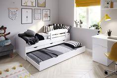 NATALI je jedinečná posteľ, ktorá v sebe spája veľa funkcií. Je vhodná na spanie pre jedno aj dve deti. Vďaka svojej funkčnosti je vhodná aj do menšieho interiéru. #byvanie #domov #nabytok #postele #jednolozka #modernynabytok #designfurniture #furniture #nabytokabyvanie #nabytokshop #nabytokainterier #byvaniesnov #byvajsnami #domovvashozivota #dizajn #interier #inspiracia #living #design #interiordesign #inšpirácia Toddler Bed, House Design, Storage, Interior, Furniture, Home Decor, Table Design, Rum, Products