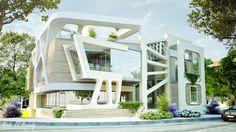 Privet villa in new Cairo on Behance