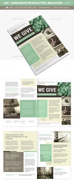 Newsletter Ideas More Newsletter ideas, Indesign templates and - corporate sponsorship package template