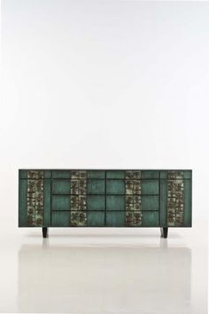 Paul Evans (1931-1987) - Commode, Cuivre, bronze, acier et bois polychrome, Edit…