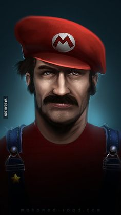 Realistic Super Mario (comment if you want a realistic portrait of anyone you want and no I will not draw dickbutt)