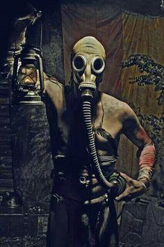 Image result for gas mask art