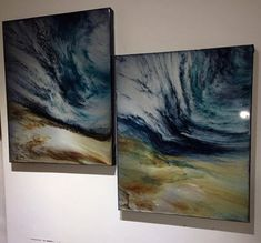 Epoxy resin mixed with media and applied to canvas in a single application by Gail Knight at Resin Art Gallery. See more here http://www.facebook.com/resinartgallery
