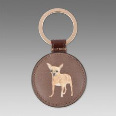 Paul Smith Keyrings - Chihuahua Print Leather Keyring