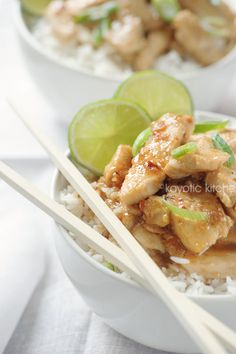 Honey, Lime  Ginger Chicken. Loving this cooking site, lovely recipes and step by step pictures to help along the way...