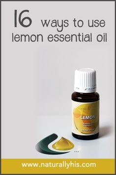 16 Ways to Use Lemon Essential Oil