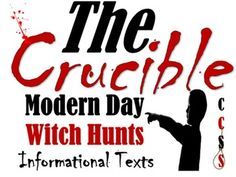 This activity is taught to help students realize just how relevant Arthur Millers The Crucible really is!There is a six slide PowerPoint with a handout that features the same information if you feel more comfortable giving out a handout.Students need to understand that certain groups are being blamed for problems in American society.
