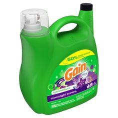 Gain Original HE, Liquid Laundry Detergent, 150 Fl Oz 96 loads Liquid Laundry Detergent, Laundry Supplies, Cleaning Supplies, Cleaning Products, Cleaning Tips, Odor Remover, Fabric Softener, Health Facts, Home