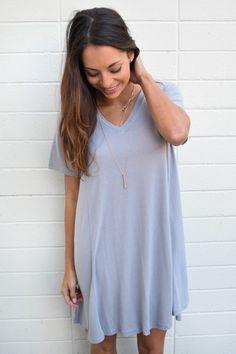 Buy Forever Dreaming Silver T-Shirt Dress