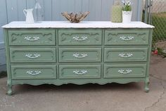 green repainted furniture - Google Search