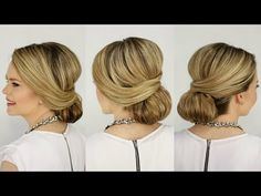 How To: Wrapped Low Bun Video Tutorial
