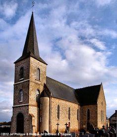 Église St-Guilhen, à Landéhen. Saint Jean Baptiste, Saint Martin, Chapelle, Notre Dame, Mansions, House Styles, Building, Travel, Catholic