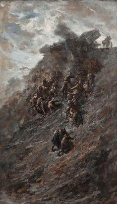 Cecile Douard (Belgian, 1866-1941) Rock Dump (Le Terril), 1898 Oil on canvas