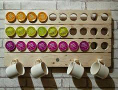 Reclaimed Wood Dolce Gusto Pod Holder / Rack in Home, Furniture & DIY | eBay