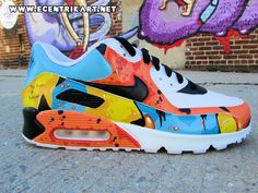 Originally created in Available in both men's and women's/grade school sizes. Fly Shoes, Nike Shoes, Custom Sneakers, Custom Shoes, Air Max 90, Nike Air Max, Air Max Sneakers, Sneakers Nike, Comfortable Sneakers