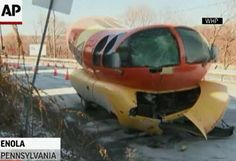 Can't make this stuff up: Wienermobile crashes into pole in Pennsylvania. http://trib.in/1Auuz5T