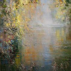 British Artist Rex PRESTON-Shades of Autumn, Chee Dale