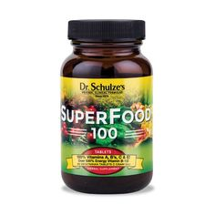 Alternative & Natural Healing for Powerful Health - Organic Herbs & Natural RemediesSuperFood-100 (90 Tablets) - Dr. Schulze