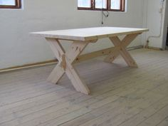 Kryssbord in 2020 Dinning Table, Wooden Tables, Picnic Table, Furniture Making, Wood Crafts, Outdoor Living, Living Spaces, Rustic, Interior