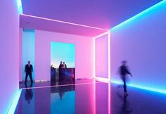 """""""Light Box"""" at 505 Fifth Avenue. The lobby is a permanent art installation by artist James Turrell in collaboration with architects Kohn Pederson Fox Associates #KPF #KohnPedersonFox"""